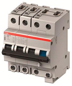 Автоматические выключатели дифференциального тока конфигурации 3P+N серии FS453E, производства АББ