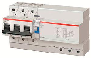Новый блок дифференциального тока DDA800 собранный вместе с автоматическим выключателем S803, производства АББ