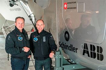 Бертран Пикард (Bertrand Piccard) и Андре Боршберг (André Borschberg) в проекте с поддержкой компании ABB (АББ)