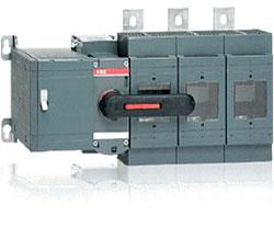 Внешний вид выключателя-предохранителя ABB серии OS и его версия с моторным приводом – OSM