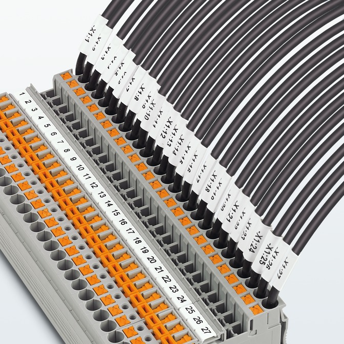 Маркировка проводников с гибкими термоусадочными кембриками