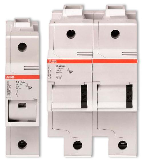 Модульные предохранители-разъединители ABB серии Е90